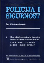 Policija i sigurnost,Vol. 22 No. 1 (supplement)