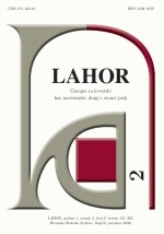 LAHOR : journal for Croatian as mother, second and foreign lanugage,Vol. 2 No. 2