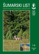 Journal of the Forestry Society of Croatia = Zeitschrift des Kroatischen Forstvereins = Revue de la Societe forestiere Croate,Vol. 137 No. 7-8