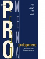 Prolegomena: Journal of Philosophy,Vol.4 No.1