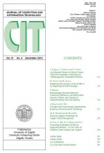 Journal of computing and information technology,Vol.21 No.4