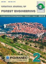 Croatian Journal of Forest Engineering : Journal for Theory and Application of Forestry Engineering,Vol. 33 No. 2