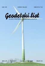 Geodetski list,Vol. 68 (91) No. 1