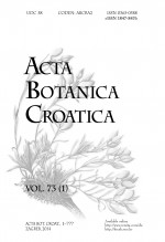 Acta Botanica Croatica,Vol.73 No.1