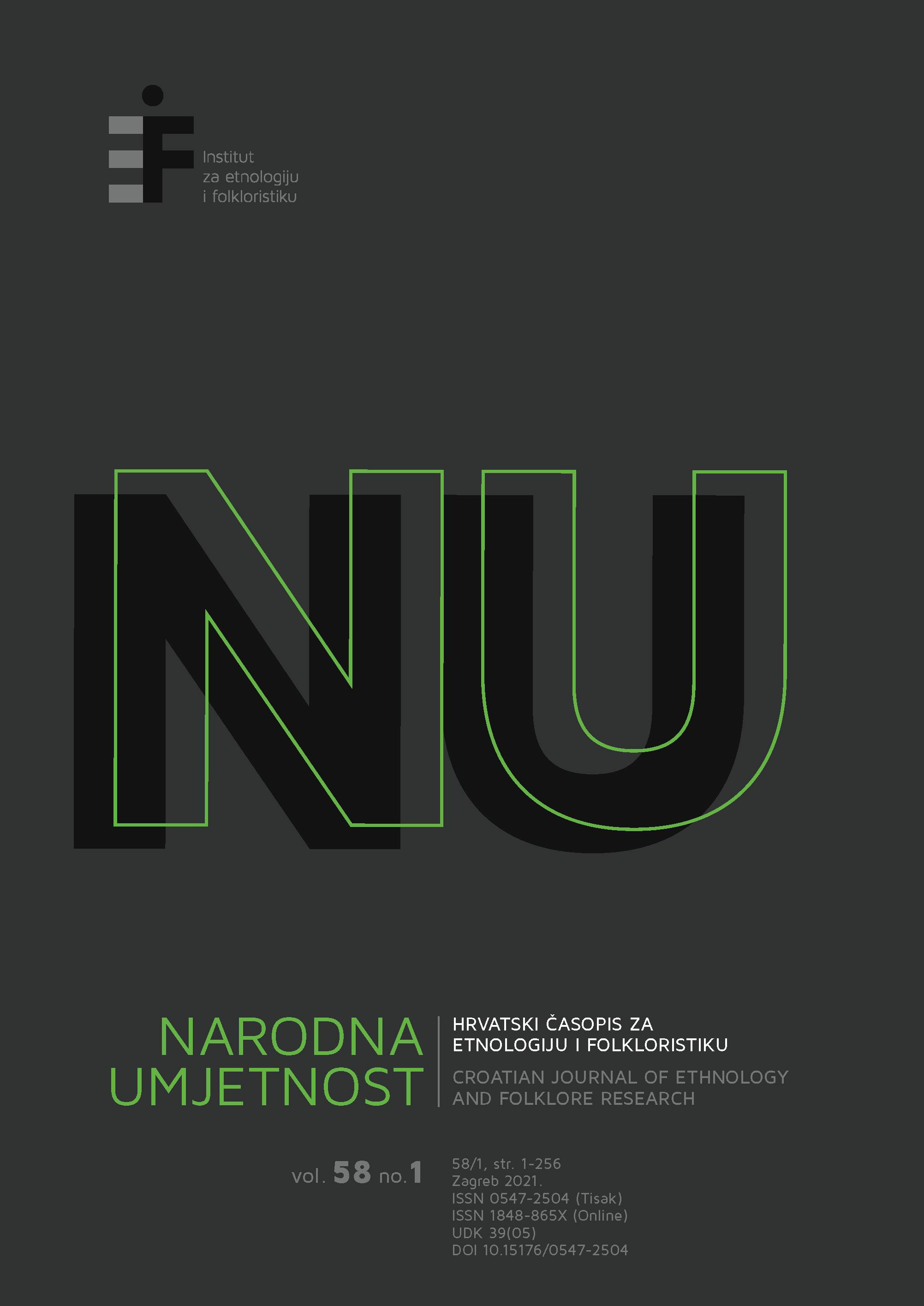 Pogledaj Svezak 58 Br. 1 (2021): Narodna umjetnost