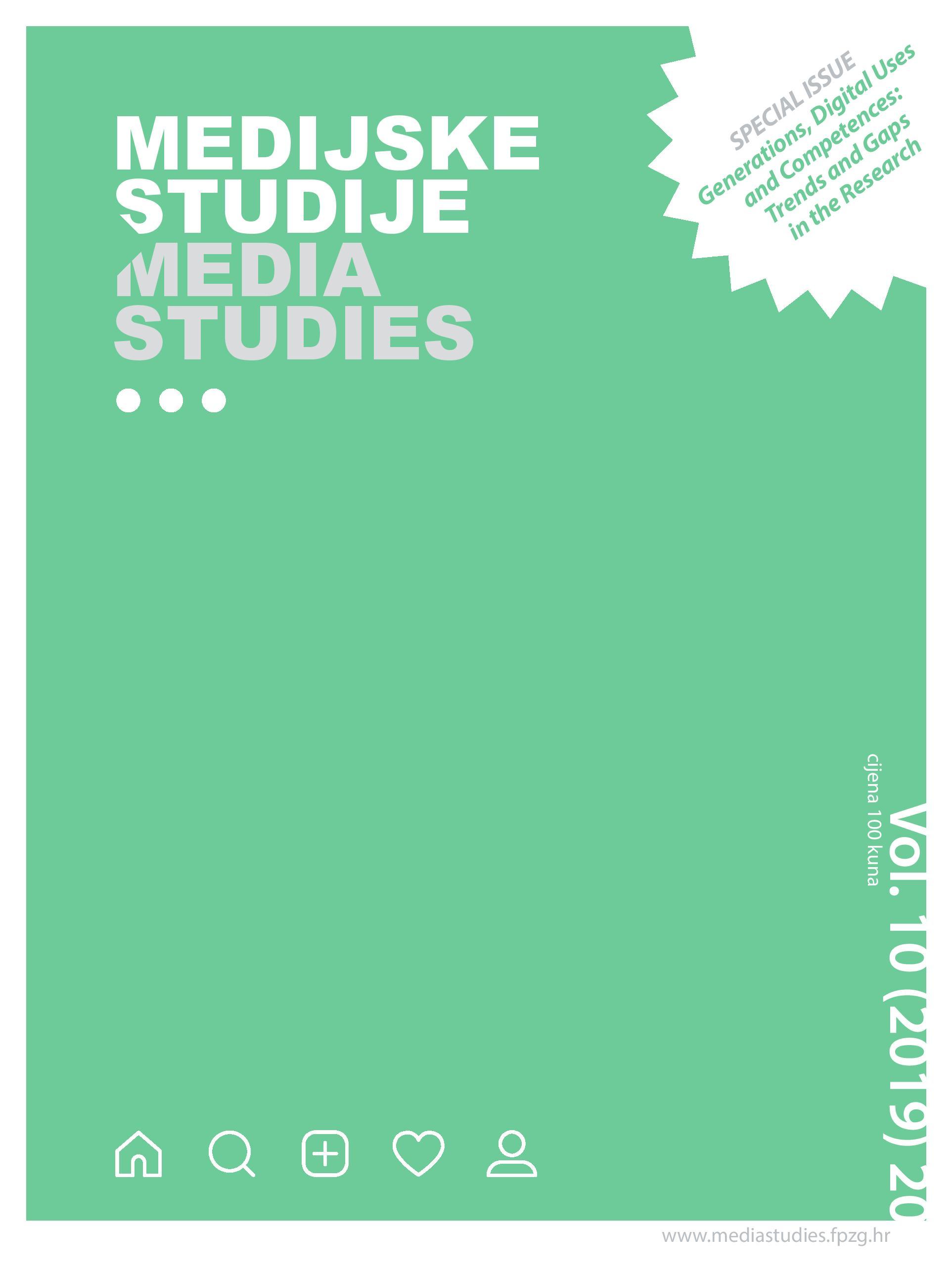 View Vol. 10 No. 20 (2019): Media Studies Vol. 10 (2019) 20
