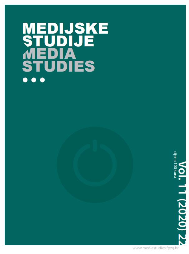 View Vol. 11 No. 22 (2020): Media Studies Vol. 11 No. 22 (2020)