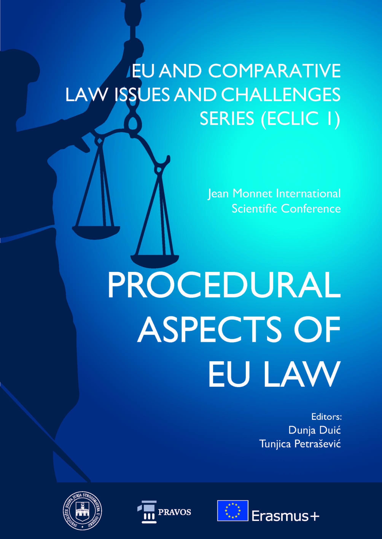 View Vol. 1 (2017): PROCEDURAL ASPECTS OF EU LAW