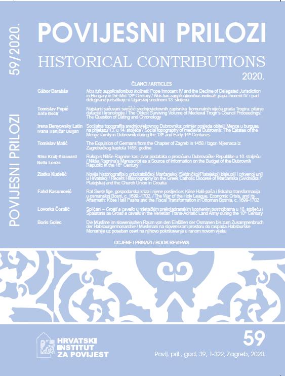 Pogledaj Svezak 39 Br. 59 (2020): Povijesni prilozi